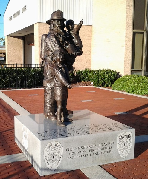 Greensboro's Bravest, Firefighter Memorial